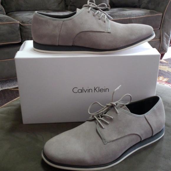 Calvin Klein Grey Suede Shoes